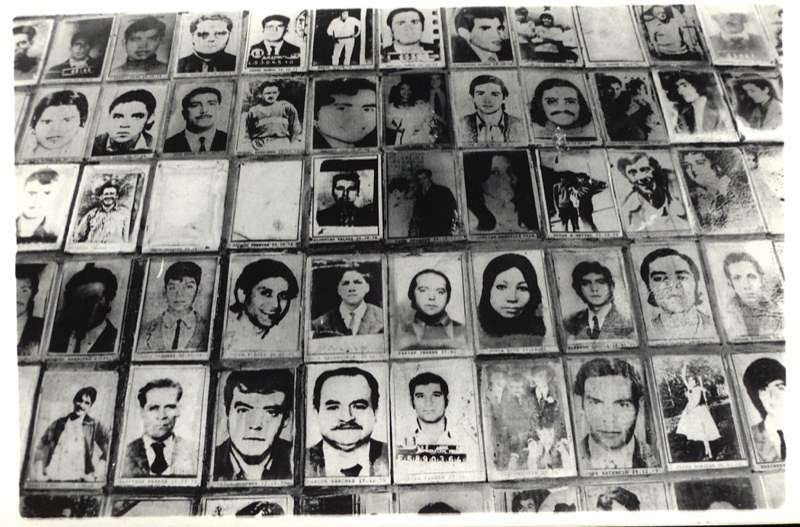 Photographs of victims of enforced disappearance during the 1973 - 1990 dictatorship, Chile