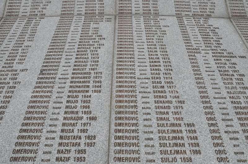 Srebrencia memorial names